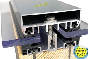aluminiumprofile um glasscheiben zu befestigen. Black Bedroom Furniture Sets. Home Design Ideas